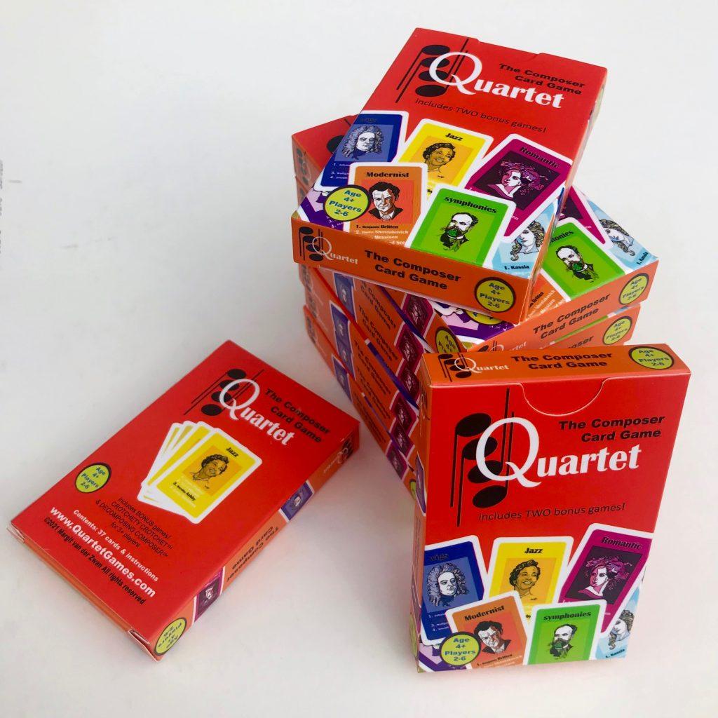 Quartet Composer Card Game Margit
